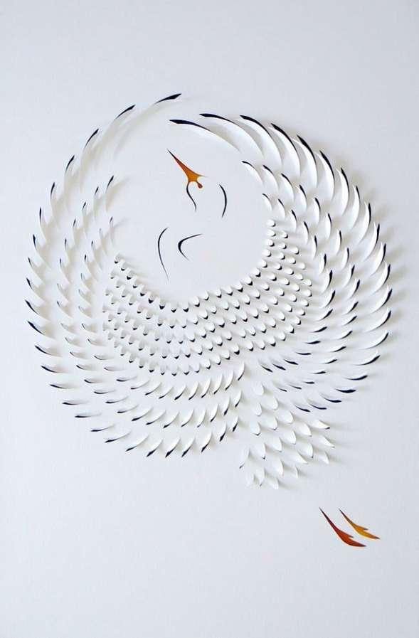 Sliced Sheet Paper Art