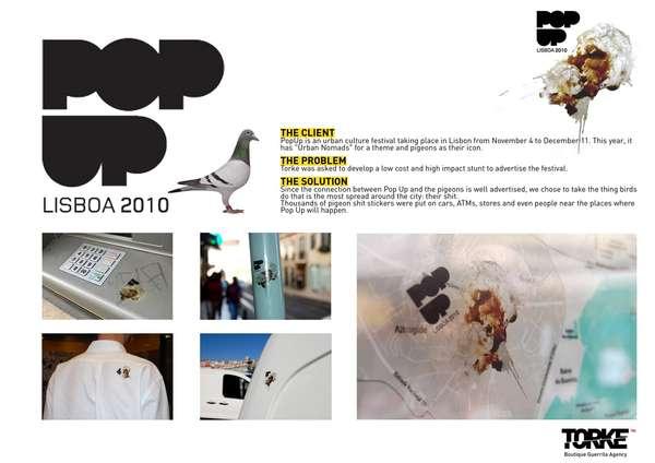 Pigeon Poopvertising