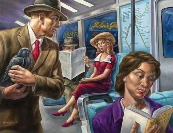 Literature Subway Illustrations
