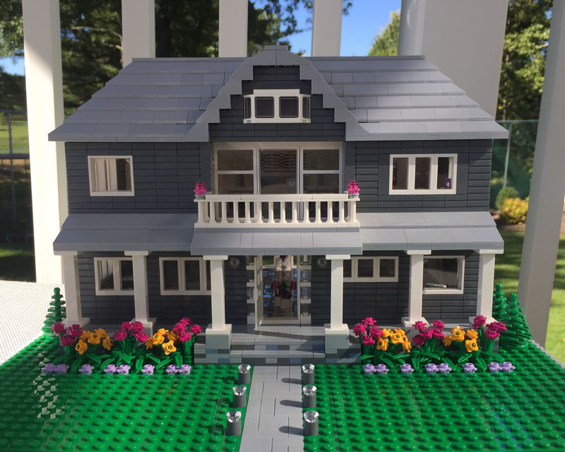 Custom-Built LEGO Homes