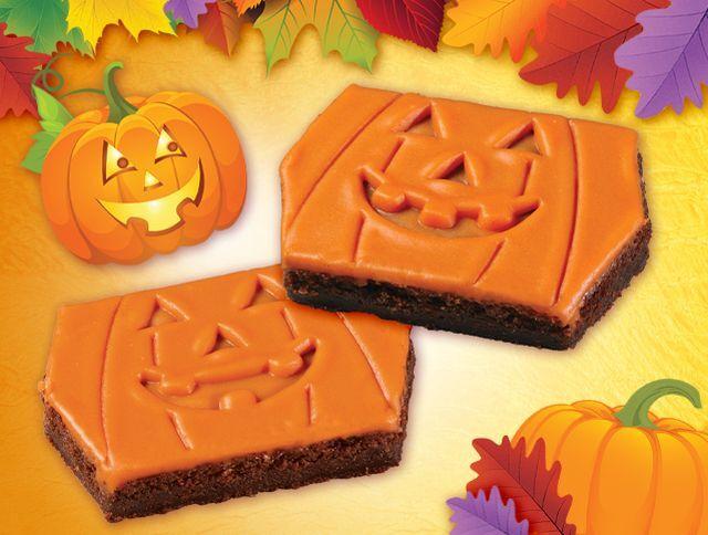Jack-o-Lantern Brownie Treats