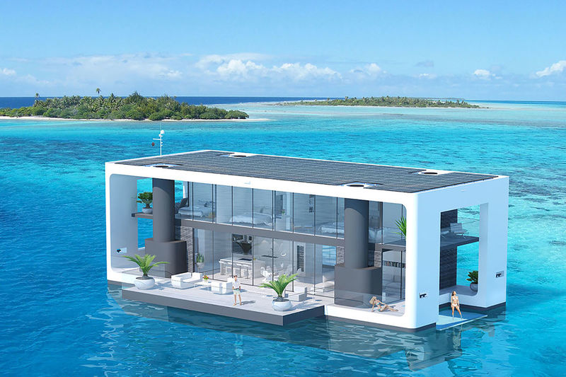 Floating Hurricane-Resistant Homes