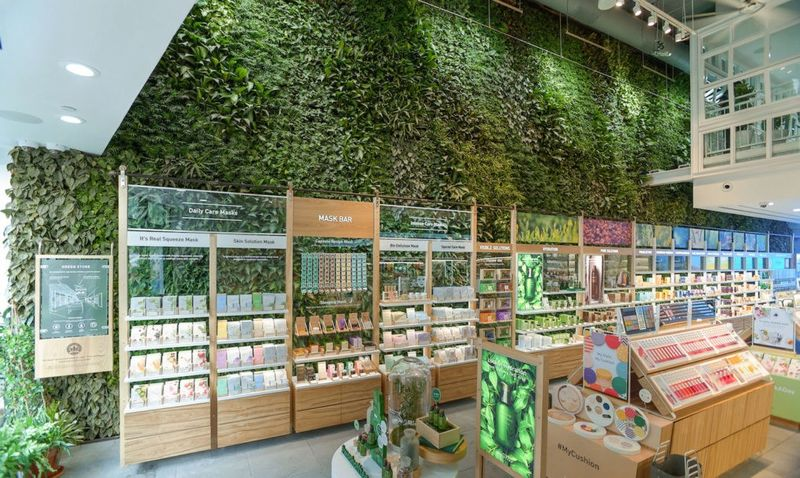 Store-Based Living Plant Walls