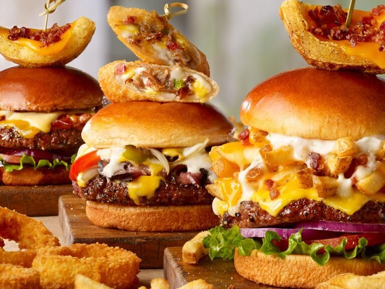 Eggroll-Topped Burgers