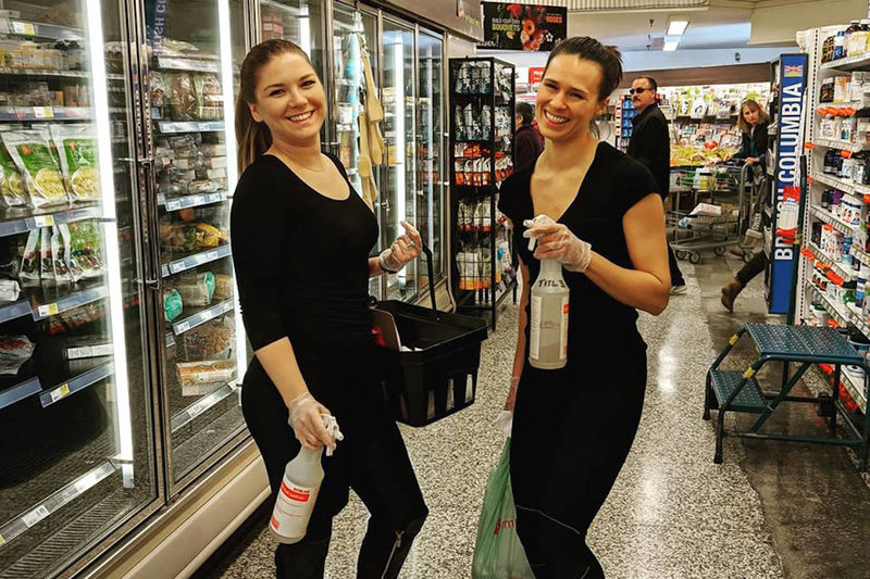 Sanitation-Focused Grocery Stores