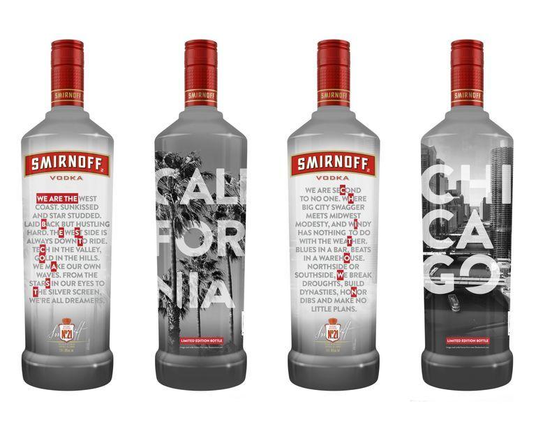 Locally-Inspired Vodka Bottles
