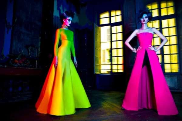 Neon Frankenstein Gowns