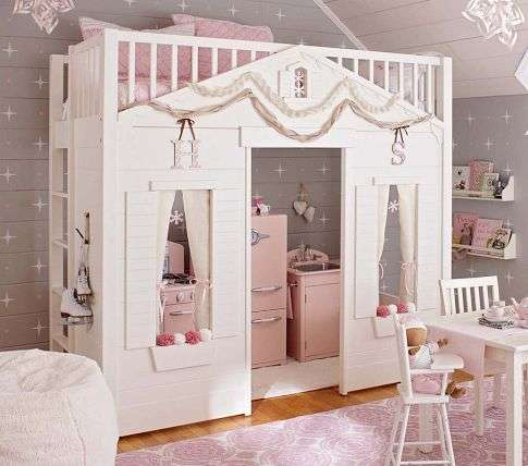 Dollhouse-Inspired Kids Beds