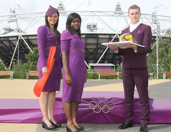 Purple-Pigmented Podium Wear
