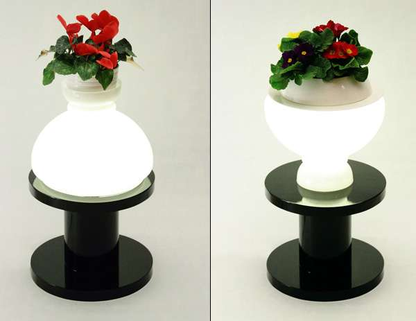 Upcycled Pedestal Lighting