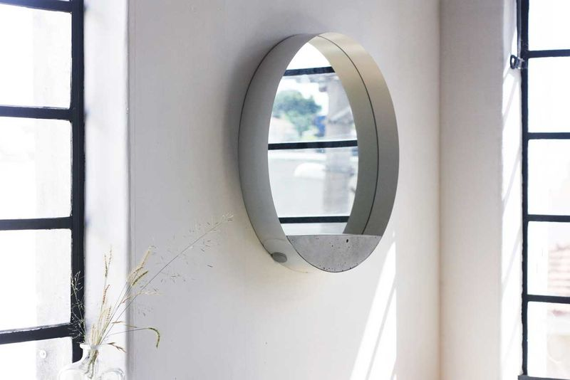 Three-Material Wall Mirrors