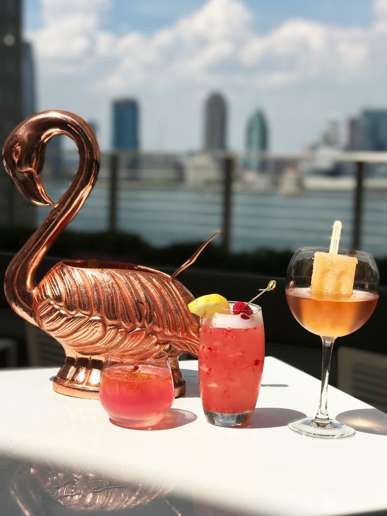 Flamingo-Shaped Cocktail Cups
