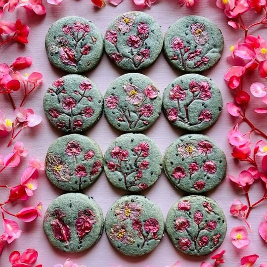 Flower-Pressed Shortbread Cookies