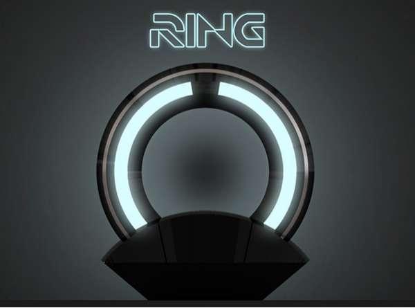 Sci-Fi Disc Lamps : Loris Bottello