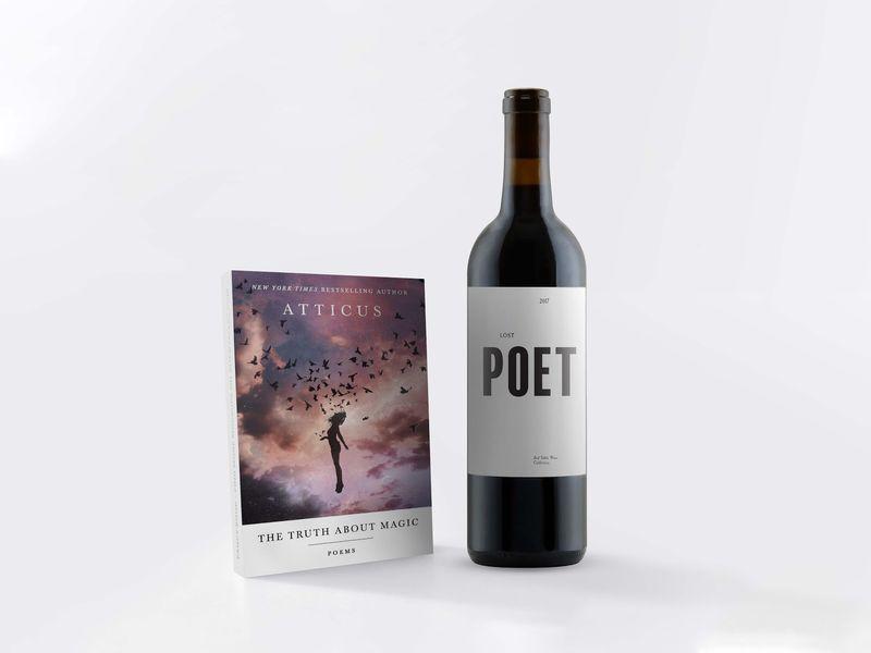 Poet-Inspired Wine Packaging
