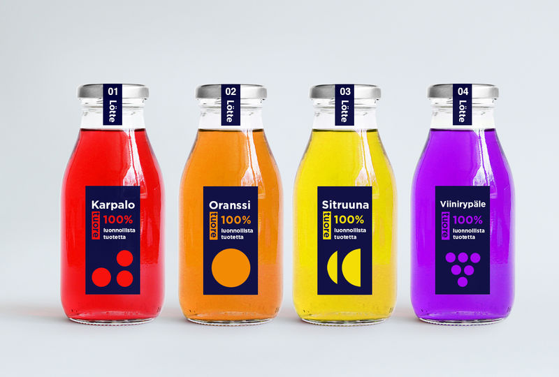 Bauhaus-Inspired Juice Bottles