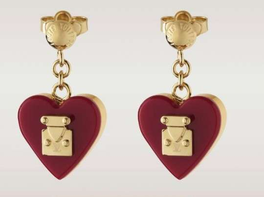 Opulent Heart-Shaped Earrings