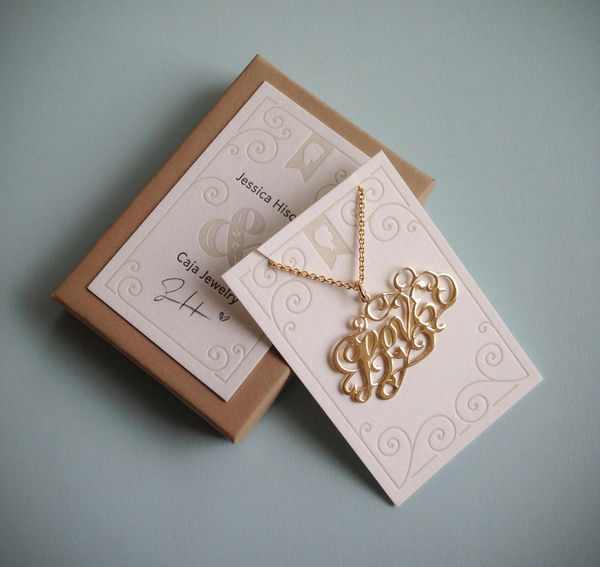 Amorous Typographic Necklaces