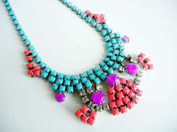 Upcycled Neon Jewelry