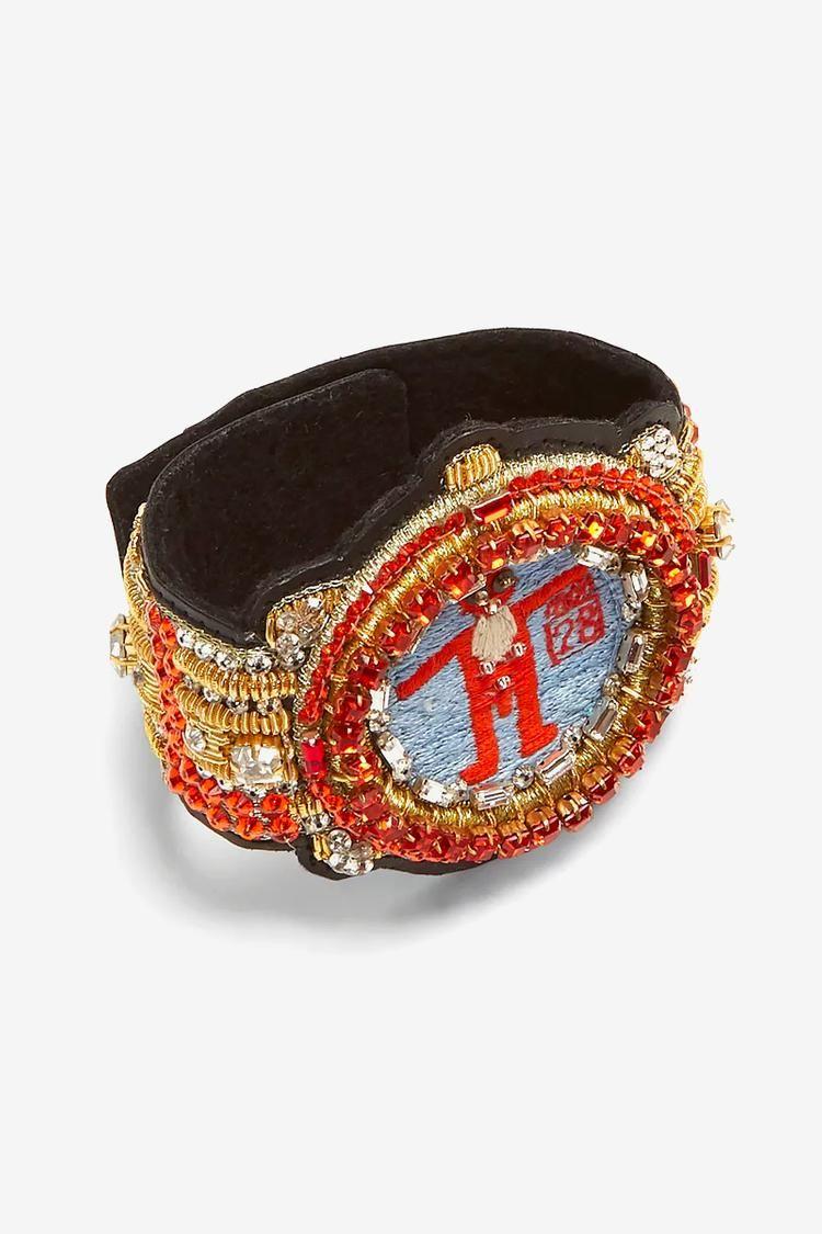 Crystal-Encrusted Bold Bracelets