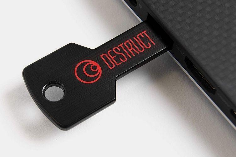 Data-Destroying USB Keys