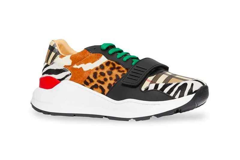 Bold Animal-Printed Luxe Sneakers