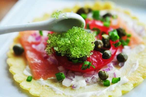 Wasabi Caviar Crepes