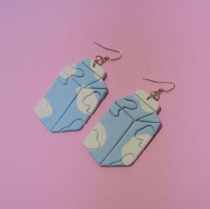 Nostalgic Milk Carton Jewelry