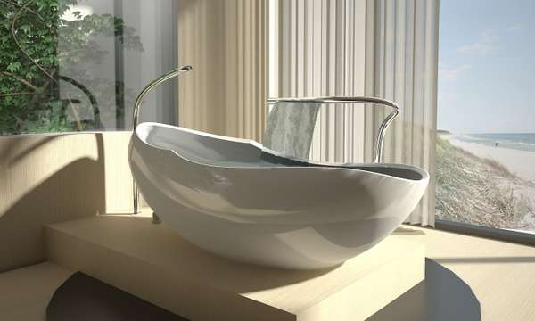 Egg-Shaped Bathtubs