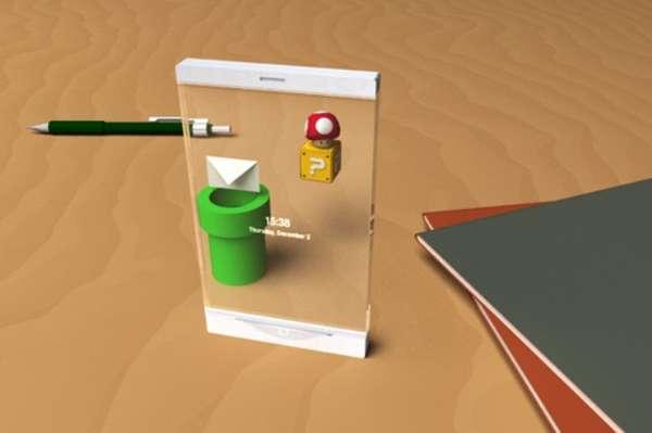Transparent Mario Mobiles