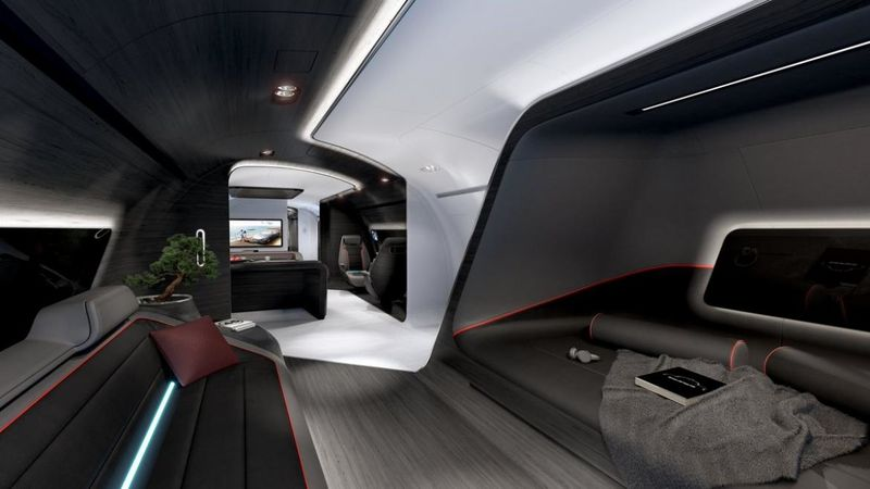 Sports Car-Inspired Jet Cabins