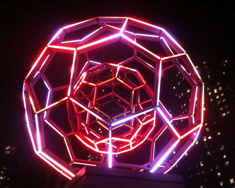 Glowing Orb Street Art