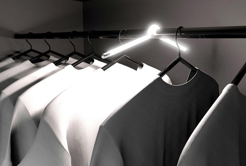 Hanger-Inspired Closet Lights
