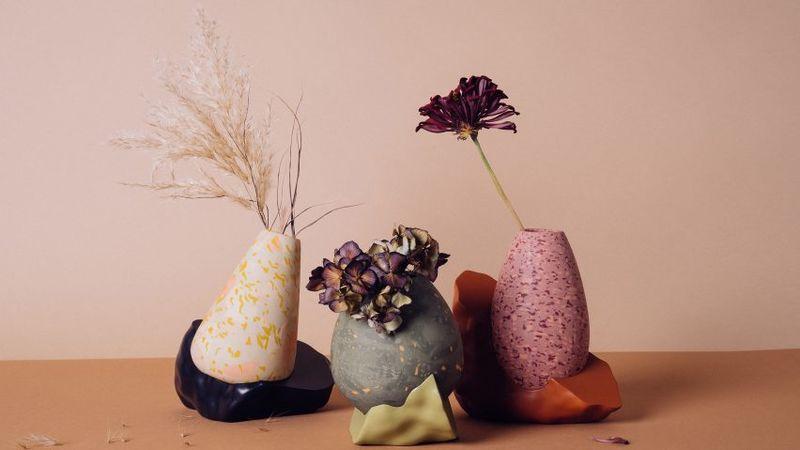 Intentionally Lumpy Vases