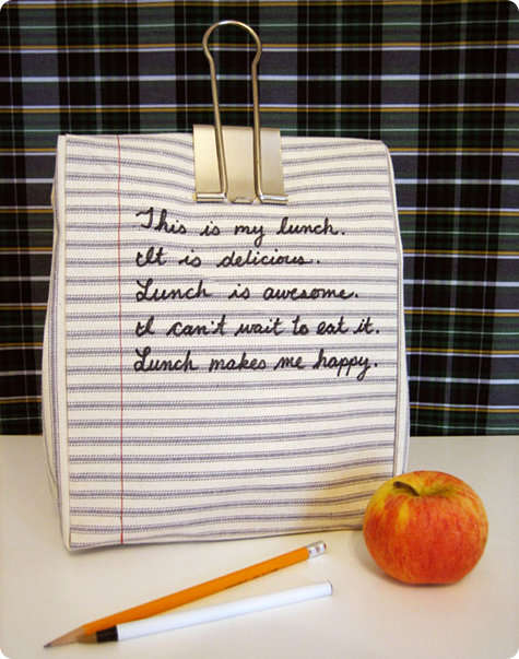 DIY Notebook Lunch Bags