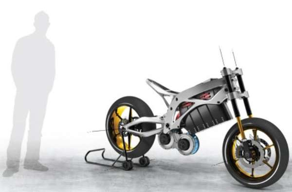 Bare Electric Two-Wheelers : Luniform Frame Superbike