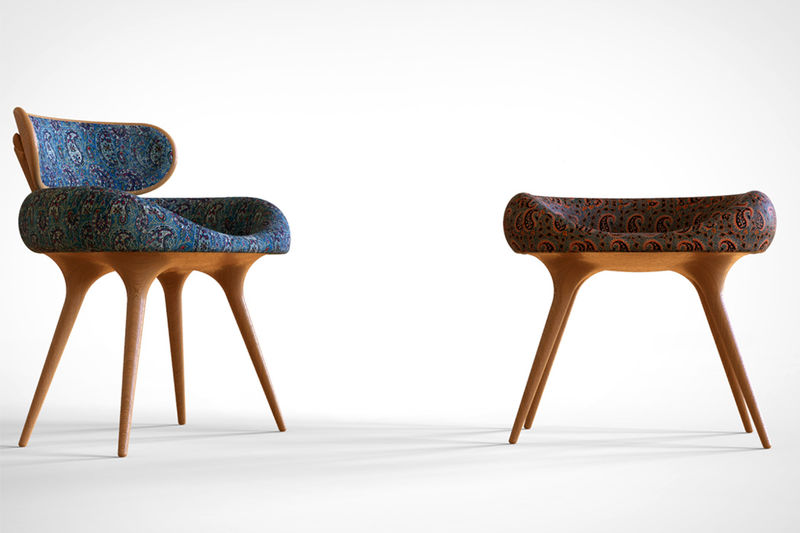 Ergonomic Cross Legged Seats Lunule Chair