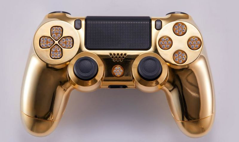 Gold-Wrapped Game Controllers