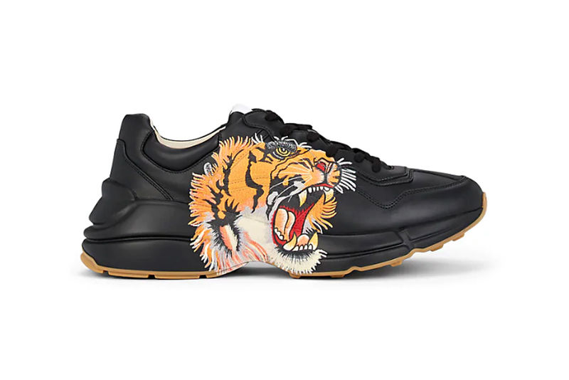 Tiger-Accented Luxe Sneakers