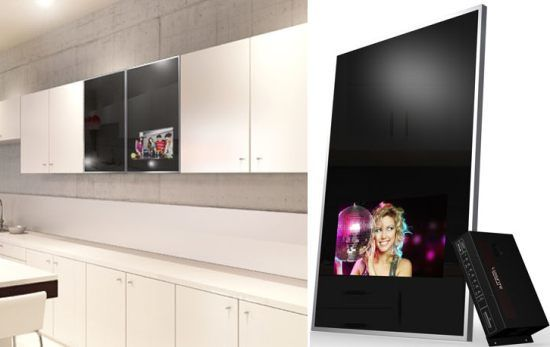 Tech Enhanced Sideboards Luxurite Cabinet Door Tv