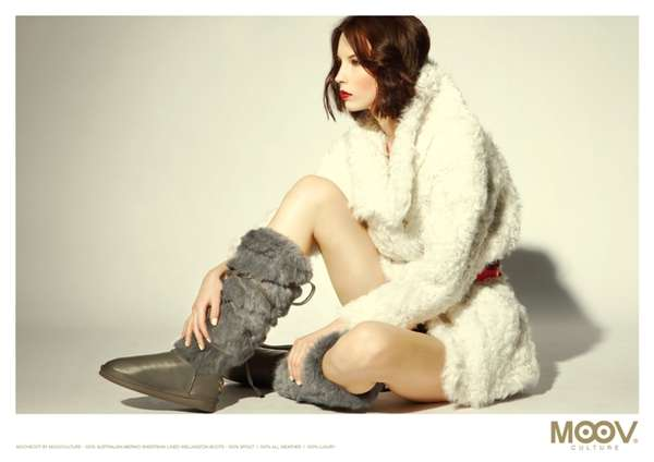 Fluffy Leather Footwear