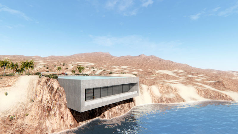 Concrete Cliffside Houses