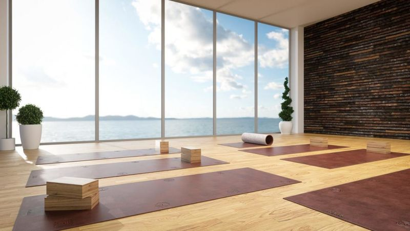 Gem-Embedded Yoga Mats