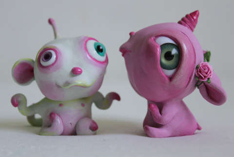 Infantile Monster Sculptures