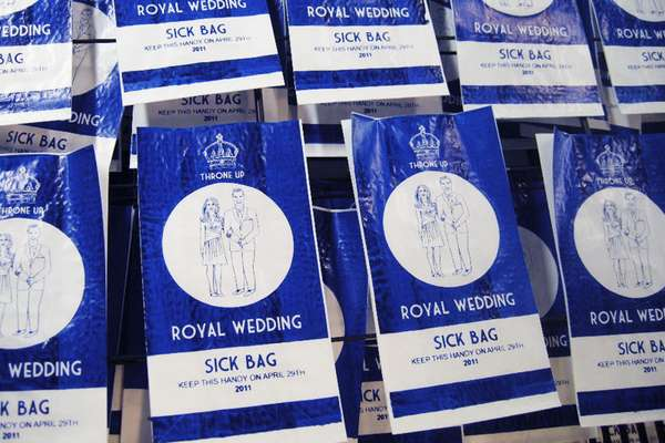 Royal Wedding Vomit Bags