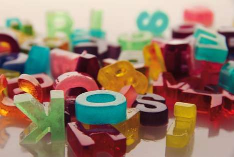 Colorful Edible Typography