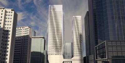 Subtle Twin Skyscrapers
