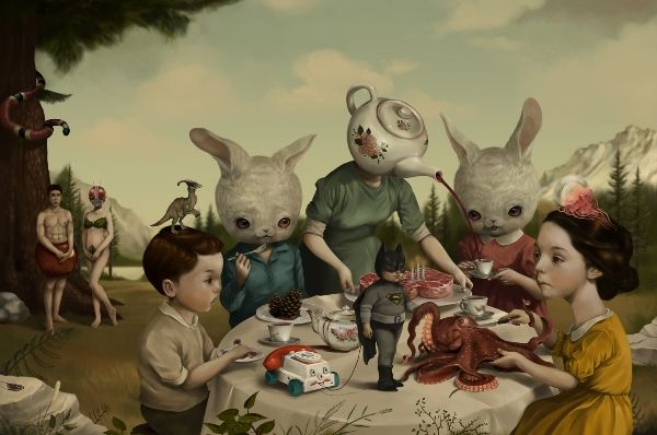 Disturbing Playland Paintings