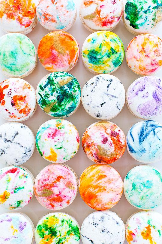 DIY Marbled Macarons Macaron Decoration
