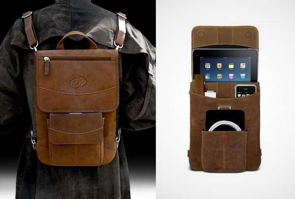 Vintage Tablet-Carrying Totes